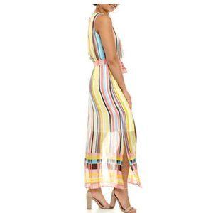 NWT Nine West Sleeveless Chiffon Maxi Dress 6